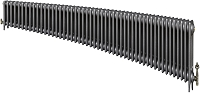 Eastgate Victoriana 3 Column 50 Section Cast Iron Radiator 450mm High x 3044mm Wide - Metallic Finish